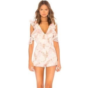 Lovers + Friends Abella Romper Pink Size X-Small
